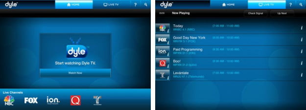 Dyle mobile TV app