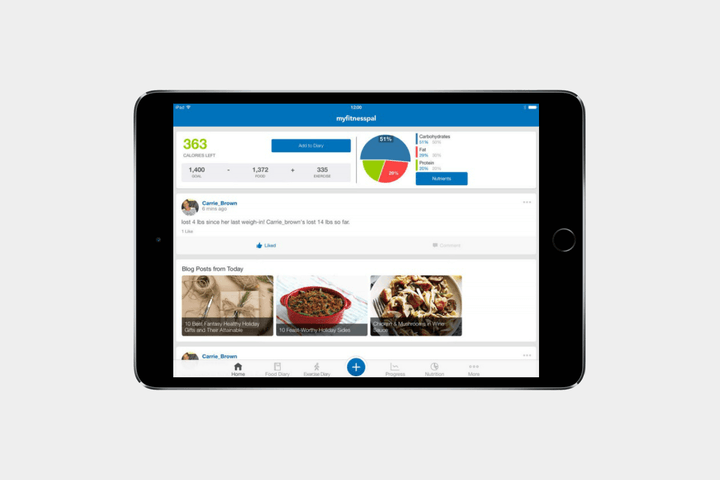 best-ipad-apps-myfitnesspal