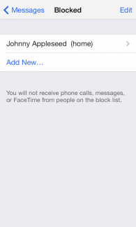 How to block contacts on iOS