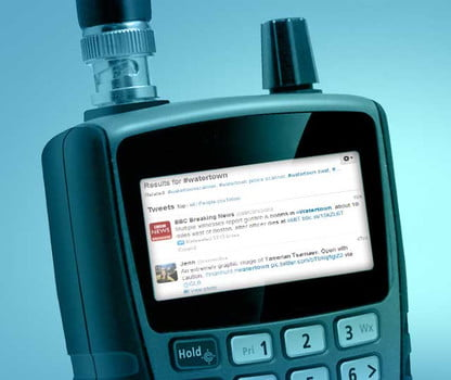 Live streaming police scanners and mainlining Twitter during