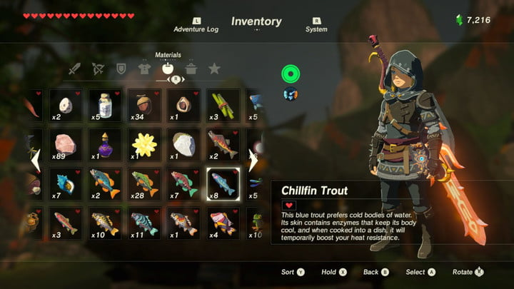 How to cook food and elixirs in 'The Legend of Zelda: Breath of the
