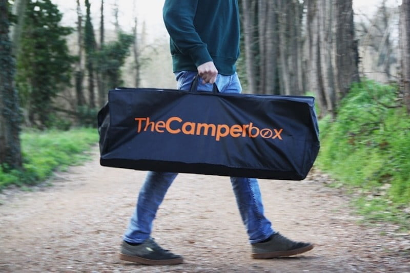 The Camperbox can turn any car into an RV, complete with bedroom