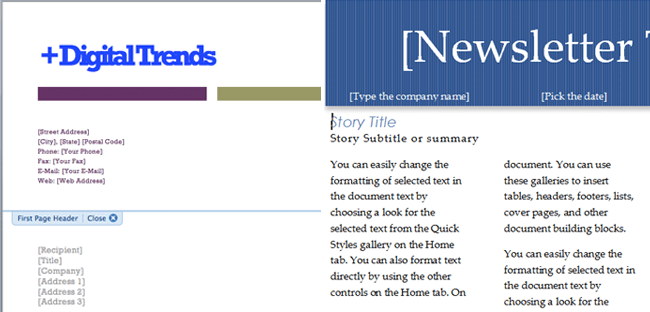 How to Use Document Templates in Microsoft Word – Address Template for Word