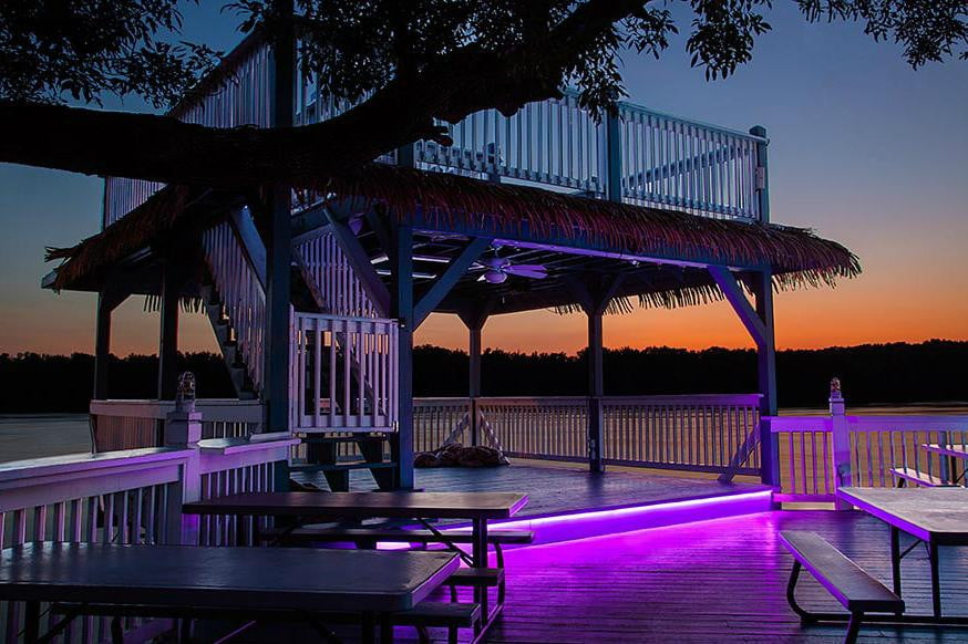 How to decorate your home with led light strips digital trends deck patio led light strip 874x582 mozeypictures Image collections