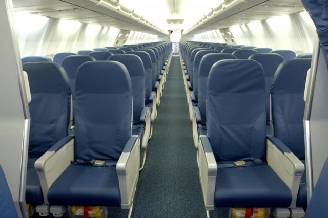 Not all planes are configured similarly, and varies by aircraft type and airline.