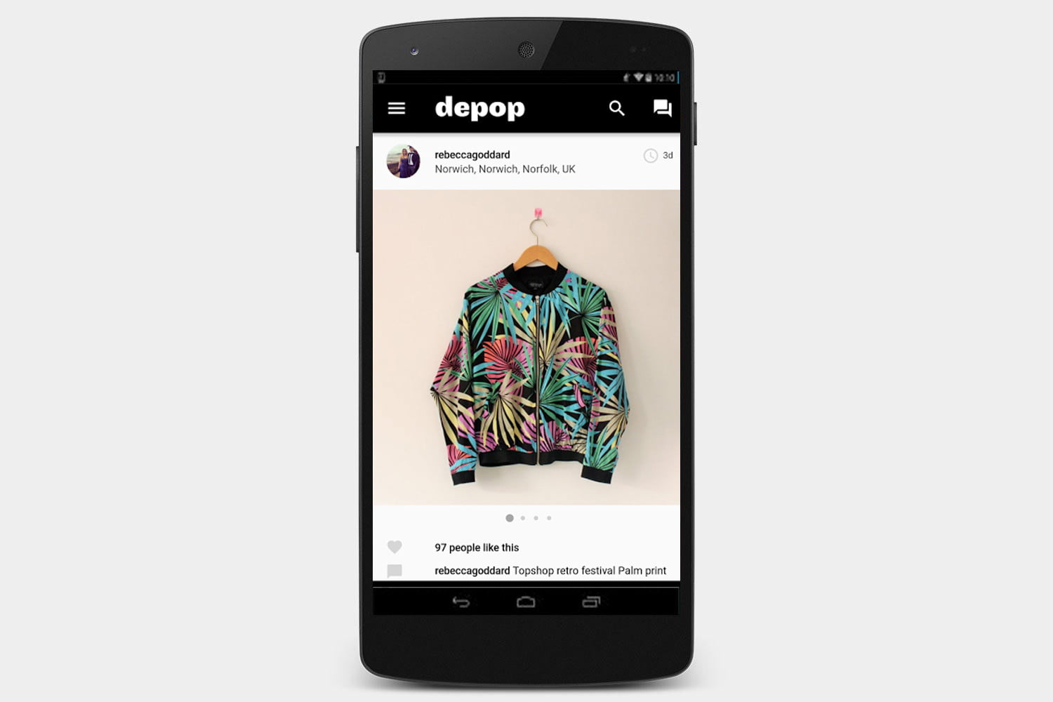 depop-screen