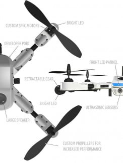 The various parts of the PlexiDrone