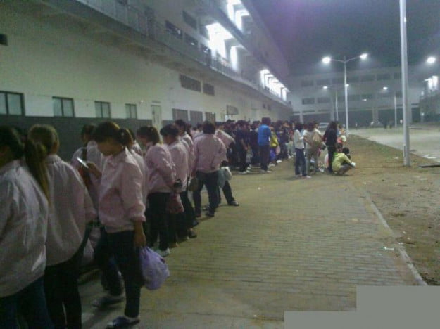 foxconn quality control workers on strike