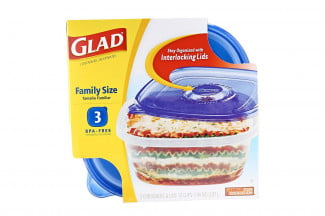 GladWare family size containers