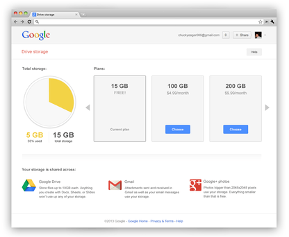 Google triples free cloud storage to 15GB for all your Gmail