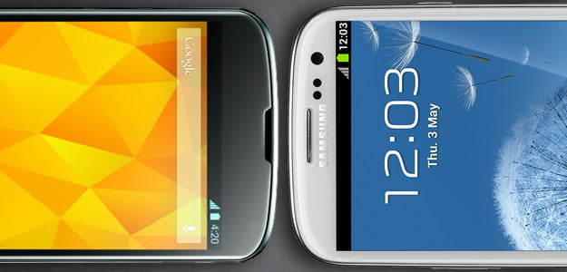 Google Nexus 4 vs samsung galaxy s3 android smartphones