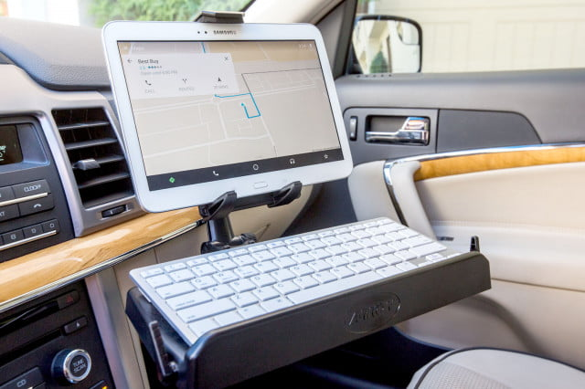 Heavy-Duty-Tablet-and-Keyboard-Tray-Combo-Car-Mount