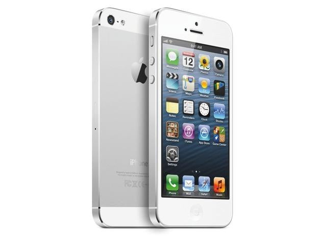 iPhone 5 Front Rear Standup White