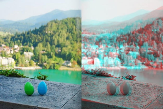 An example of an anaglyph 3D image.