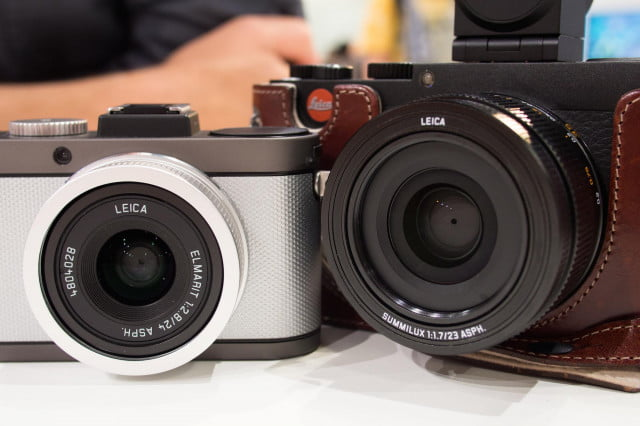 The Leica X-E and X 113 side-by-side. The new lens is noticeably larger.