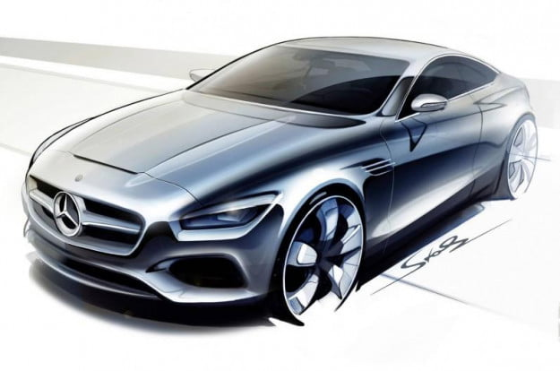 Mercedes-Benz S-Class Coupe concept sketch