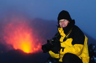 Fred Kamphues in action in Iceland.