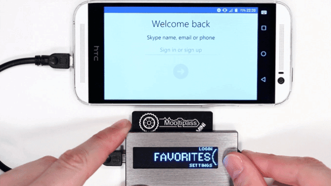 Mooltipass Mini is a new physical password manager you can carry with you