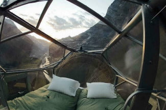 Don't look down! This Peruvian hotel has pods hanging from the side of a mountain