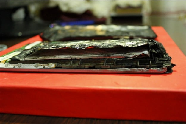 Nexus 7 burnt insides