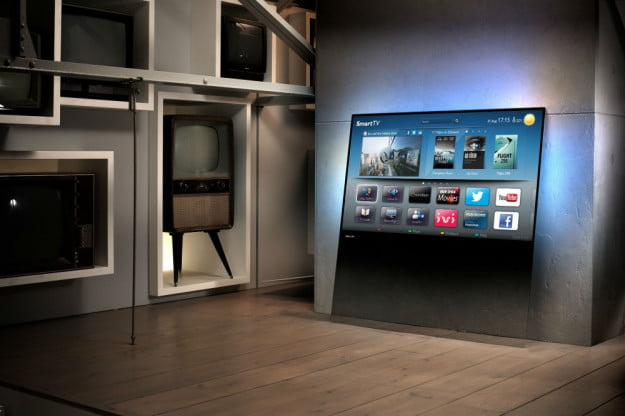 Is that a glass slab or a television? Philips' swank Designline TVs blend both