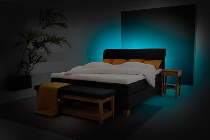 tech to set the mood in bedroom on valentines day philips hue lightstrip plus