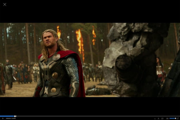 Popcorn Time Software Thor Playing