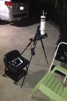 For the October 8, 2014 Blood Moon eclipse, Mead used a Canon EOS 5D Mark III, 100-400mm with 2X converter, and a Cam Ranger connected to an iPad. (Credit: Scott Mead Photography)