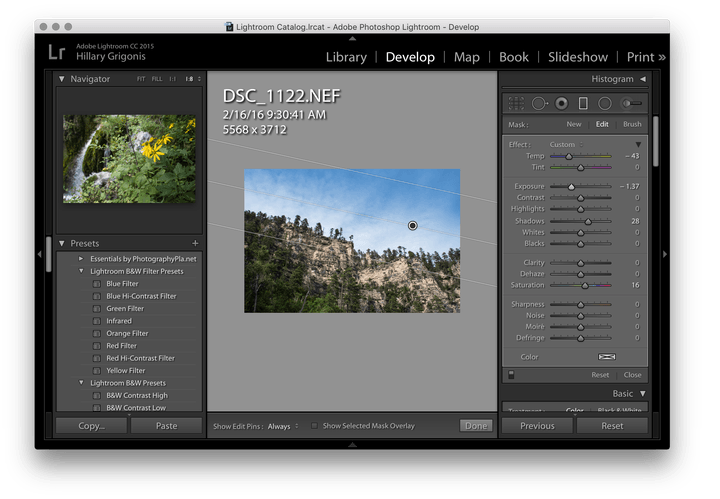 How to use the Lightroom graduated filter to fix a boring sky