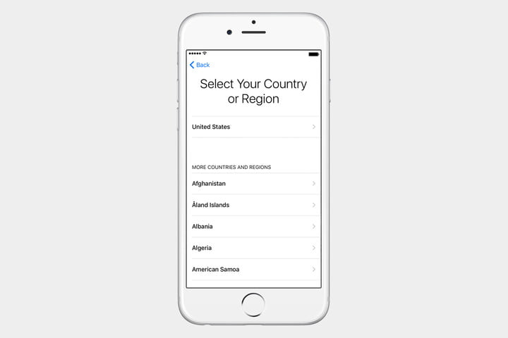 guide to ios set up iphone country