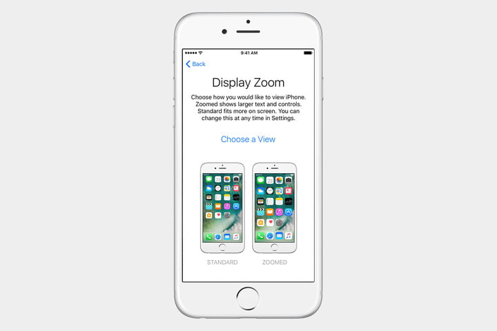guide to ios set up iphone standard zoom