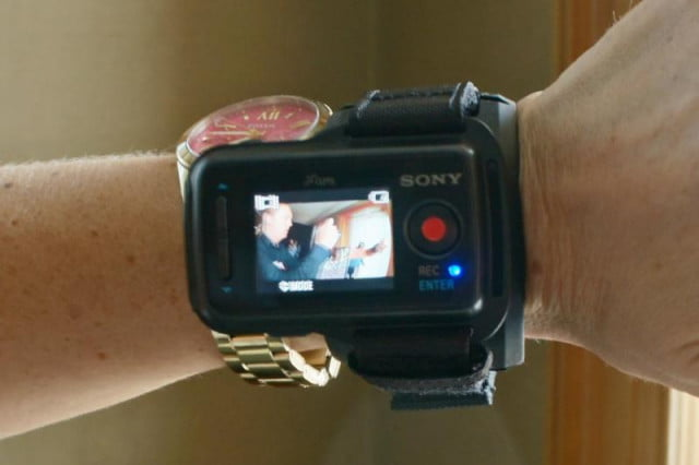 The wearable Live View Remote that works with the Action Cam Mini and other newer Action Cams.
