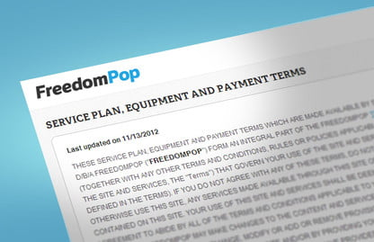 Terms & Conditions: Freedompop isn't all