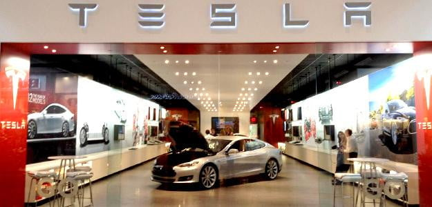 tesla store electric cars