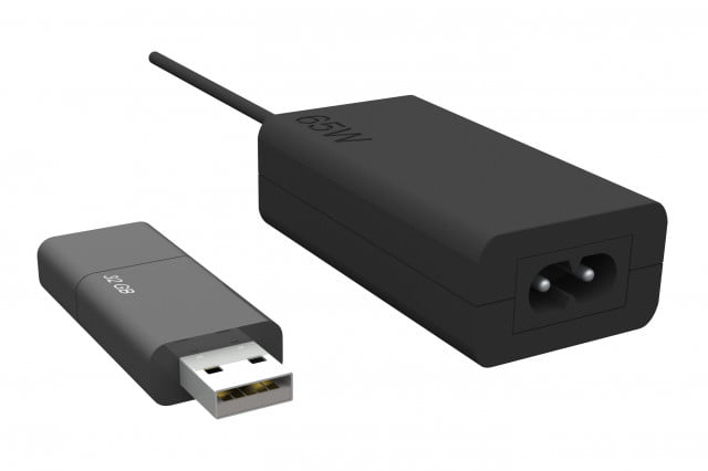 Lenovo's ThinkPad 65W Micro Adapter appears to be only slightly larger than a USB thumb drive.