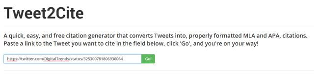 This Twitter citation tool will keep your research papers MLA