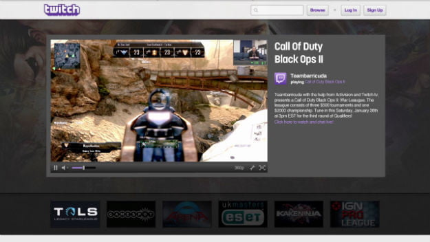 Twitch game broadcasting hits consoles with call of duty black ops twitch brings its video game broadcasting tools to consoles with call of duty black ops 2 reheart Images