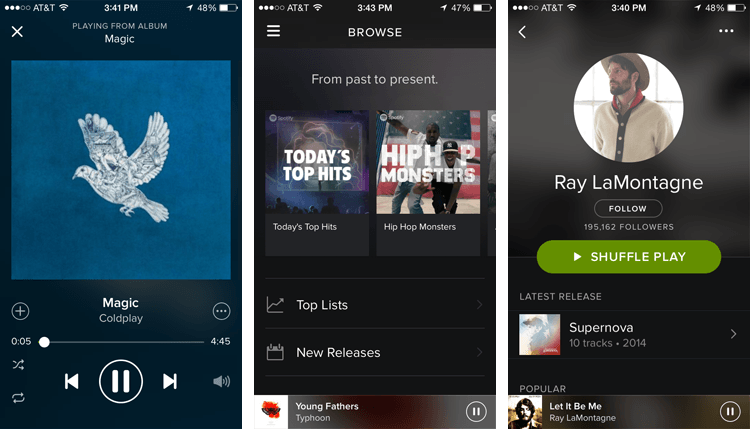 how to play songs on spotify on phone