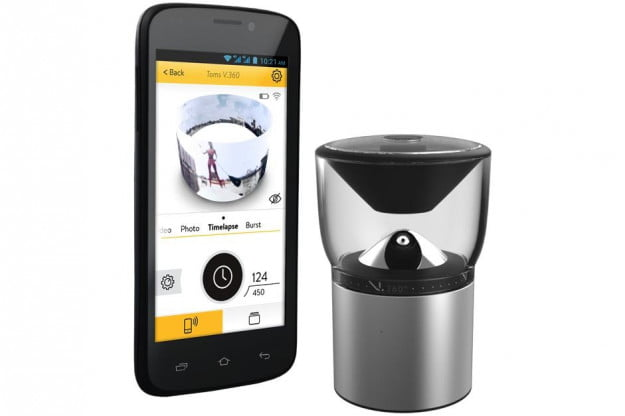 The V.360° comes with a companion app for Android and iOS devices.