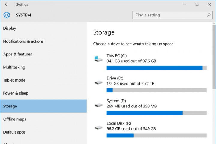 How To Manage Disk Space With Windows 10 Storage Menu | Digital Trends