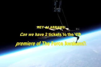 How do you catch J.J. Abrams' attention? Try sending an X-wing into space