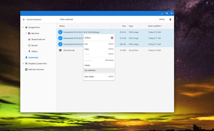 How to zip and unzip files on a Chromebook